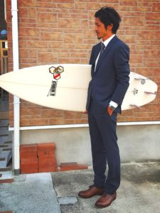 スーツ×サーフボード・サーファー